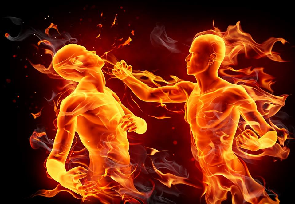 Idioms through pictures (to fight fire with fire)