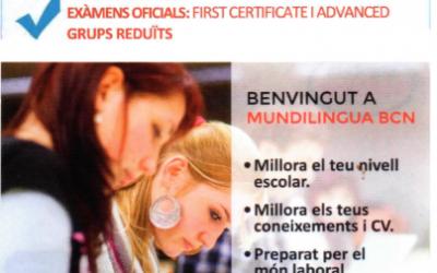 CURSOS DE INGLES: PREPARACIÓN FIRST CERTIFICATE Y ADVANCED –CAE