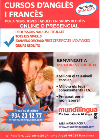 CURSOS DE INGLES: PREPARACIÓN FIRST CERTIFICATE Y ADVANCED –CAE